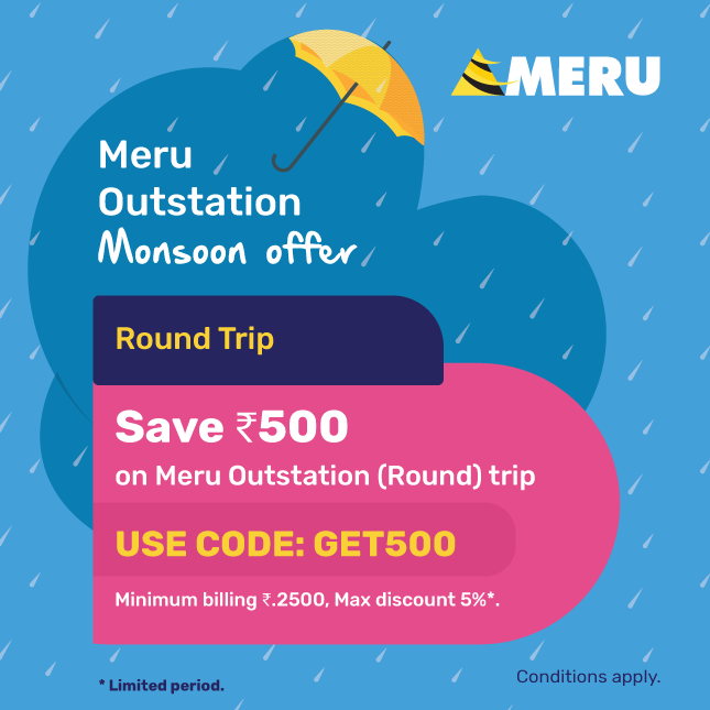 Meru Cabs Promo Code August 12222: Rs 250 Free Ride Coupons