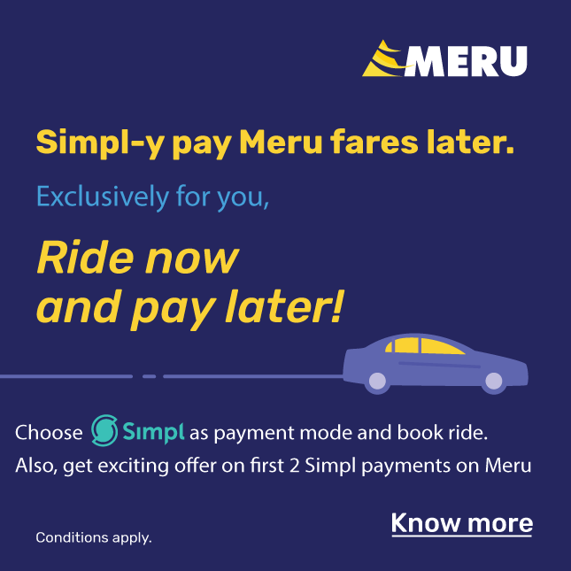 Filter Meru Cabs Coupons and Offers by